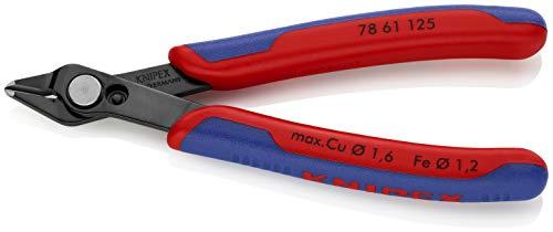 KNIPEX 78 61 125 Electronic Super Knips brüniert mit Mehrkomponenten-Hüllen 125 mm