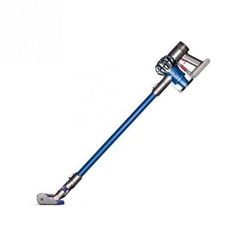 Dyson V6 Fluffy kabelloser Staubsauger (speziell für Hartböden, Elektrobürste mit Softwalze 25 cm, inkl. Zubehör) blau/nickel