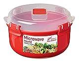 Sistema Microwave Rundbehälter, 915ml, rot/transparent