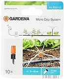 Gardena Micro-Drip-System Kleinflächendüse: Sprühdüse für die Bewässerung von kleinen Flächen, regelbare Reichweite 10-40 cm, 10 Stück (8320-20)