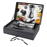 Gefu Spirelli Premium Edition XL Geschenkbox mit Spirelli XL mit Restehalter, Sparschäler und Reinigungsbürste 27,5 x 19,5 x 10 cm